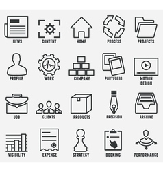 Set of outline seo and internet service icons vector image vector image