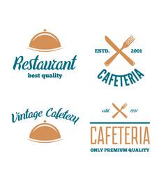 Set of restaurant shop design element in vintage vector