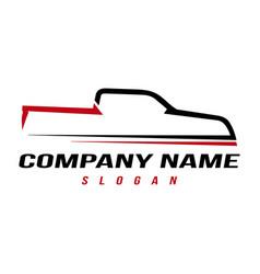 sport truck logo vector image