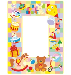 Toy picture frame vector