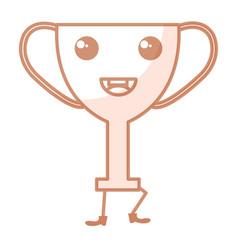 Trophy cup award kawaii character vector