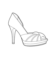 Womens shoes vector