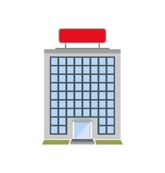 Building windows hotel service icon vector
