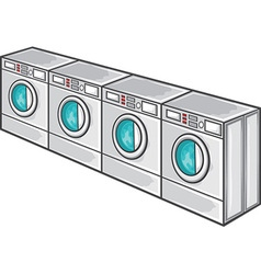 Laundry machine line vector