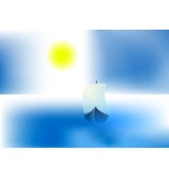 bright sun ship vector image