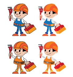 Figures of plumber vector