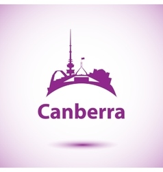 Canberra detailed silhouette Trendy vector image
