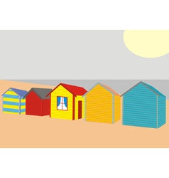 Beach houses vector
