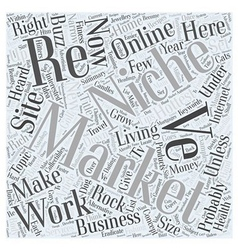 Niche and grow rich word cloud concept vector