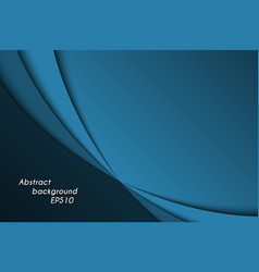 Blue abstract background with dark curves vector