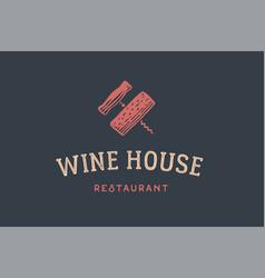 Label of wine restaurant vector