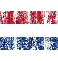 Dutch grunge flag vector image