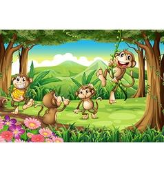 Monkeys playing vector image