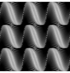 Design seamless monochrome wave background vector
