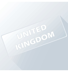 United kingdom unique button vector