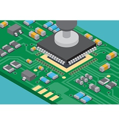 Surface mount technology ic placement vector