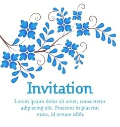 Flowers invitation or wedding card with vector