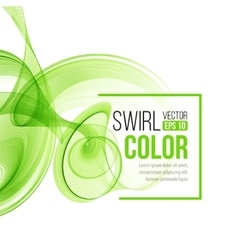 Abstract dynamic background swirl wavy vector image