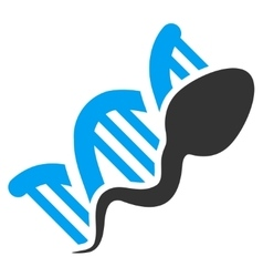 Sperm replication icon vector