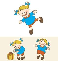 happy kid set vector image