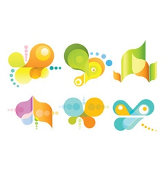 set of 6 abstract icons vector image