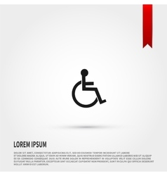 Disabled icon flat design style template for vector