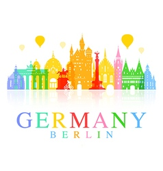 Germany berlin travel landmark vector
