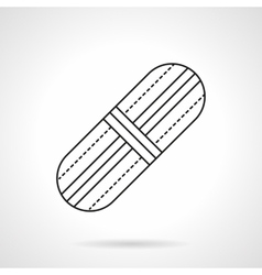 Adhesive plaster flat line icon vector