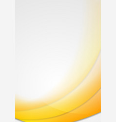 Abstract yellow wavy design vector