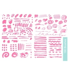 Big set of 190 objects brushes vector