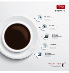 coffee cup and business infographic vector image