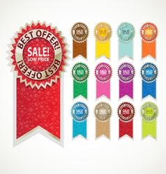 Color sale label set vector image vector image