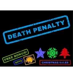 Death penalty rubber stamp vector