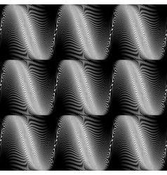 Design seamless monochrome wave background vector