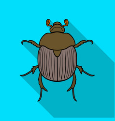 Dor-beetle icon in flat style isolated on white vector