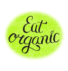 Eat organic food vector