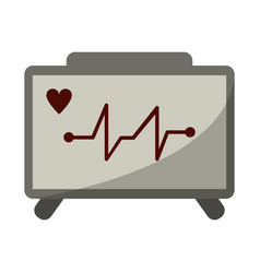 Ecg heart machine medical device vector