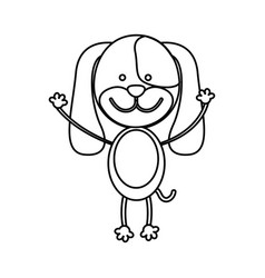 Figure teddy dog icon vector