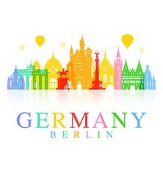 Germany berlin travel landmark vector