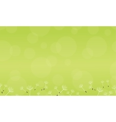 Green background of spring collection vector
