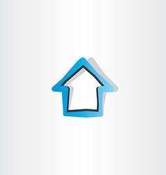 house blue logo symbol element design vector image vector image