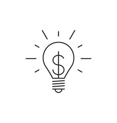 Idea icon outline vector image