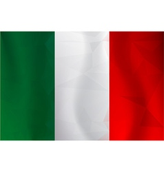 Italy flag polygonal vector
