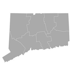 map of connecticut vector image