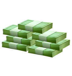 Pile of cash on white background vector