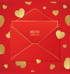 romantic greeting card design vector image