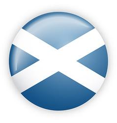 Scotland flag button vector image