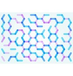 Seamless pattern of the hexagonal net vector image vector image