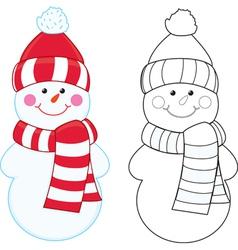 Snowman coloring book vector