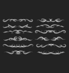 Swirl vintage dividers set vector